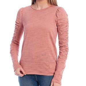NWT Free People Natasha long sleeve top, L, Blush